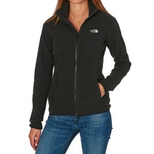 The North Face black zip up jacket classic fleece